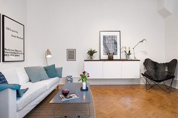 现代简约风格单身公寓40平米设计图纸