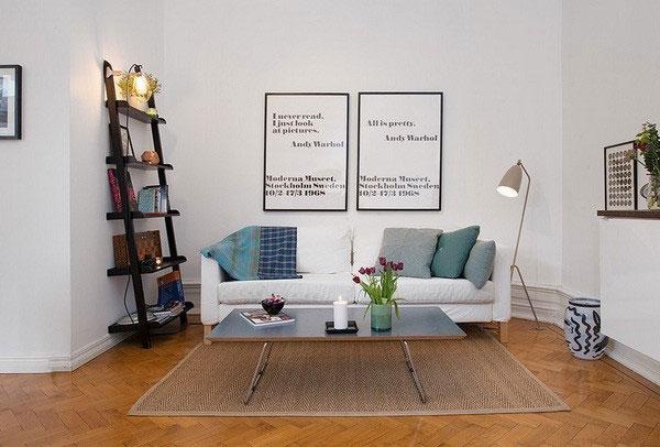 现代简约风格单身公寓40平米客厅设计图纸