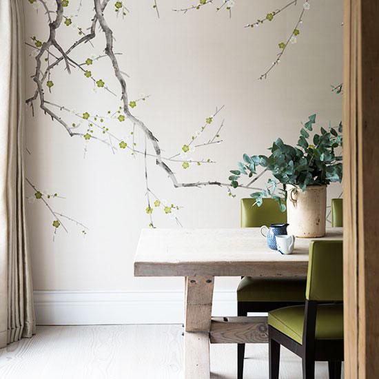 简欧风格米色餐厅壁纸图片