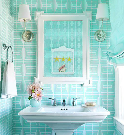 薄荷绿卫浴挂件效果图