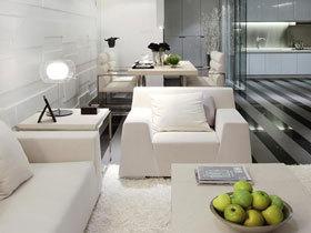 时尚现代风三居设计 我就喜欢黑白分明的家