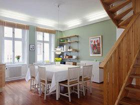 80平清新北欧复式装修 这个家有点仙