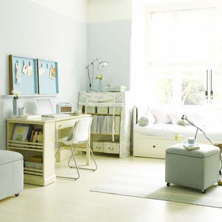 简洁白色卧室窗帘效果图