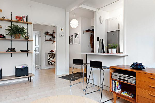 现代简约风格一居室舒适40平米设计图