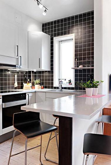 现代简约风格一居室舒适40平米吧台装修效果图