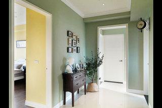 美式风格绿色玄关改造