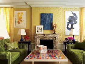 充满暖意的设计 17款黄色客厅装饰画