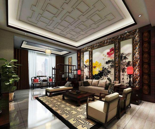 中式风格艺术装修效果图