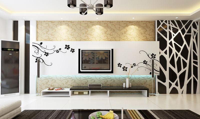 时尚电视背景墙设计图