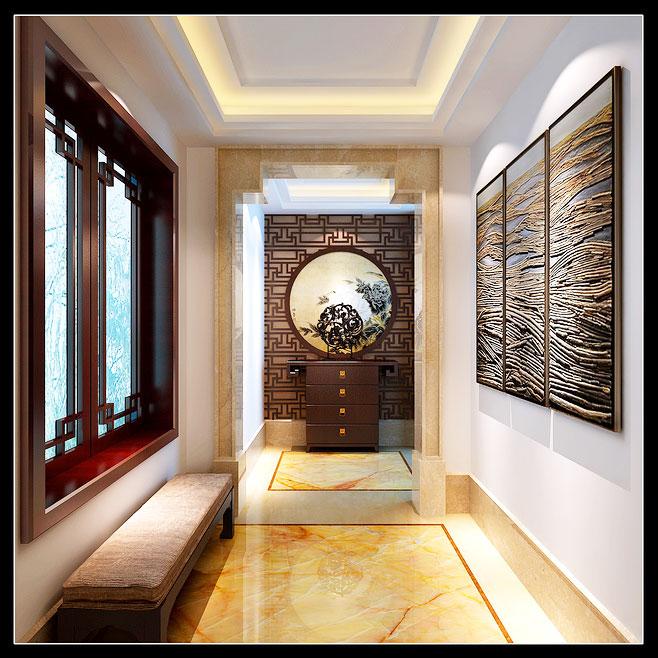 进门的过道14张玄关风景效果图12/13盛木缘实木家具图片