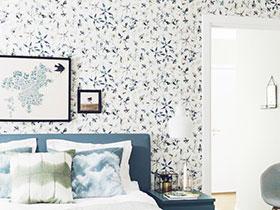 14款臥室背景墻墻紙 臥室空間溫馨造