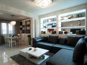 中性色现代简约两居室 稳重的空间设计