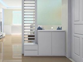 簡潔大方設計 19款白色玄關柜圖片