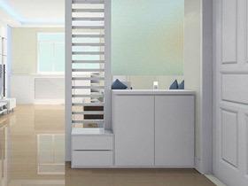 简洁大方设计 19款白色玄关柜图片