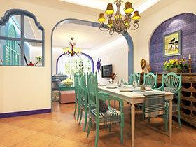 打造清新餐厅 12张彩色餐厅背景墙图片