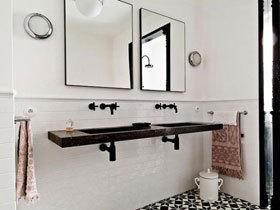经典黑白配色 16款卫浴挂件效果图