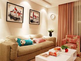 打造浪漫居室 79平温馨三口之家