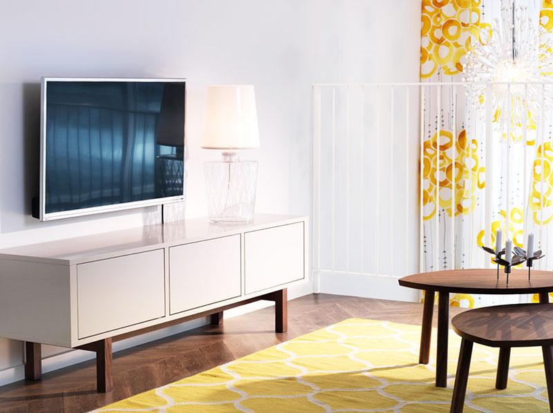 白色宜家风格电视柜效果图