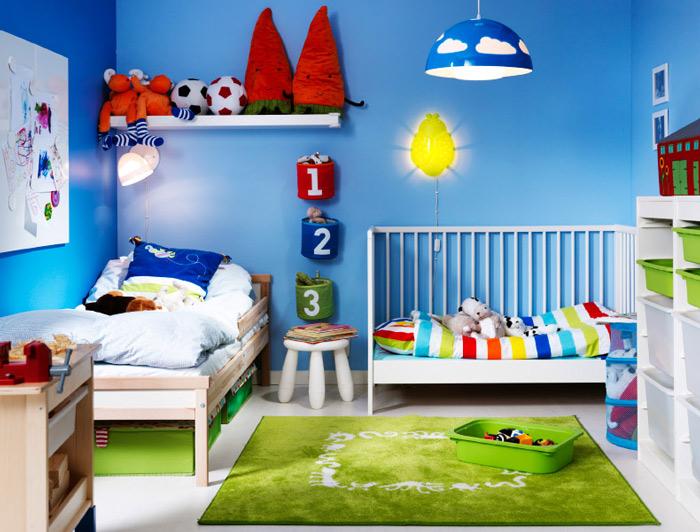 白色单边护栏儿童床效果图