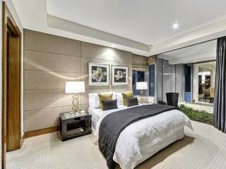低调奢华卧室效果图