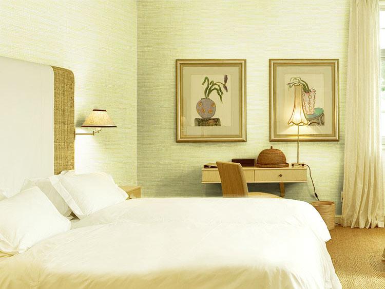绿色卧室壁纸装修效果图