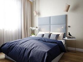 舒适简约设计 14款卧室床头软包图片