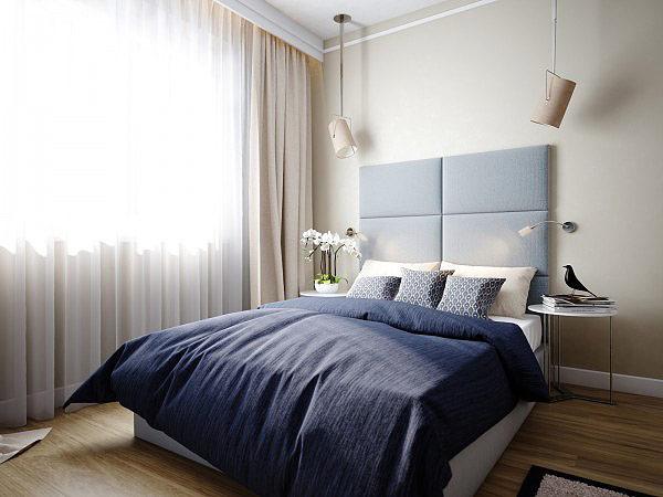 温馨素色调卧室图片