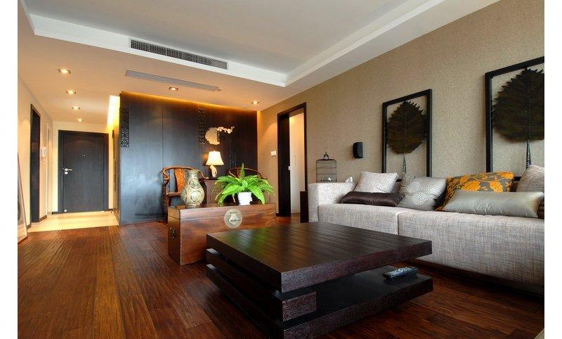 15-20万120平米中式三居室装修效果图,现代中式装修图图片