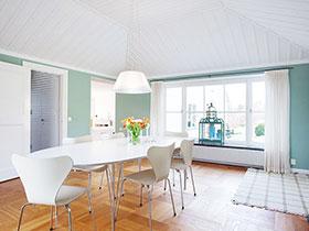 明亮小清新色彩 北欧风厨房效果图