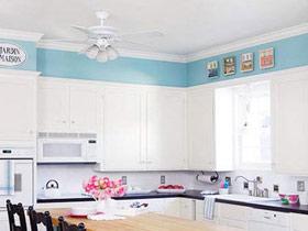 时尚现代风厨房吊顶实景图设计
