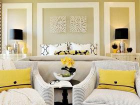 清新柠檬黄点缀 13款卧室背景墙设计