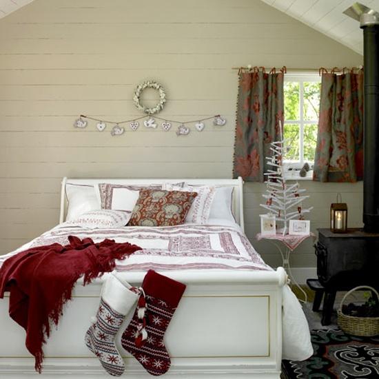 简单圣诞卧室布置图片