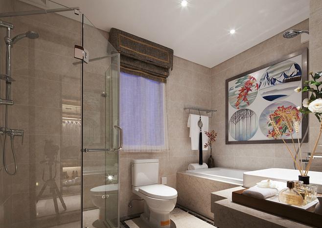 中式卫生间装饰画效果图