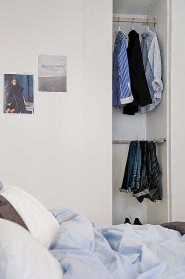 简约时尚白色衣柜效果图