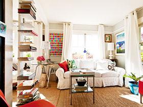 文艺典雅欧式风格客厅样板房推荐