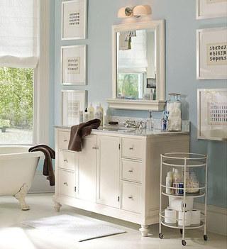 蓝色白色美式卫生间装修效果图