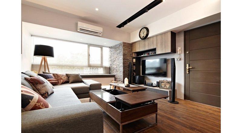 品味时尚82平雅致两居装修效果图,室内设计效果图 齐家装修网高清图片