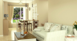 温暖清新客厅设计效果图