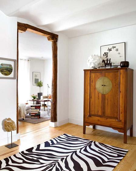 北欧风格玄关实木玄关柜设计