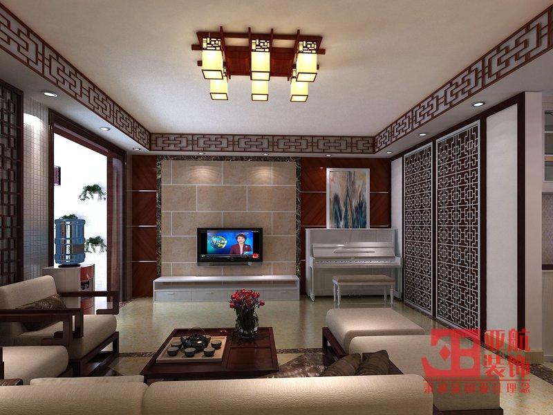 130平米中式装修效果图,鸣翠谷小区160平方四室二厅中式风格装修高清图片