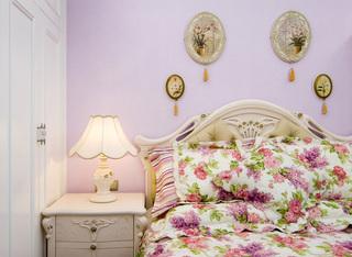 浪漫紫色田园卧室效果图