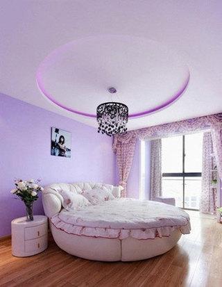 现代时尚紫色卧室效果图