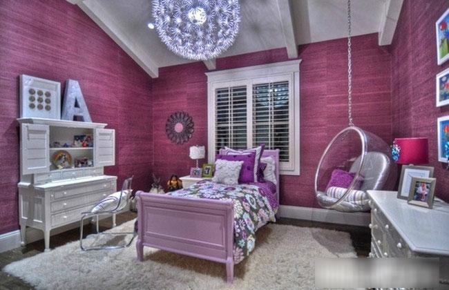 浪漫紫色女孩卧室效果图