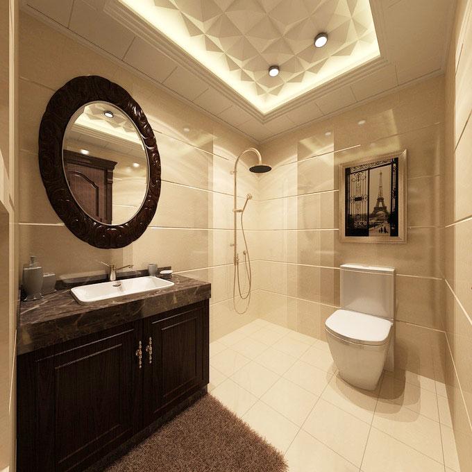 黑色浴室柜设计图_齐家网装修效果图