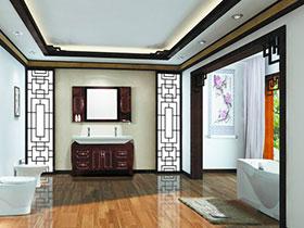 古典中式浴室欣賞 13張紅色浴室柜效果圖
