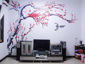 艺术手绘墙 11款手绘电视机背景墙