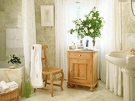 清新自然的原木家具 16张欧式浴室柜图片