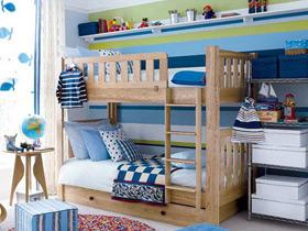 缤纷多彩儿童房双层床图片欣赏
