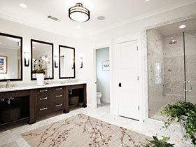 大气浴室设计 15张狭长型浴室柜效果图