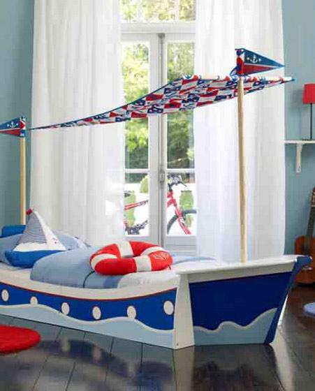 航船创意儿童床效果图